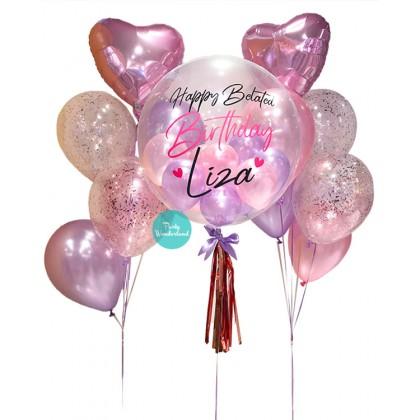 Pink Bubble Balloon (Liza)