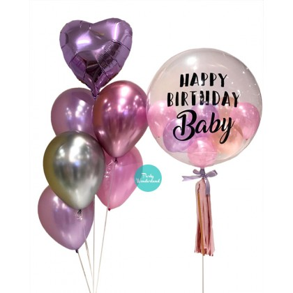 Purple Bubble Balloon (Baby)