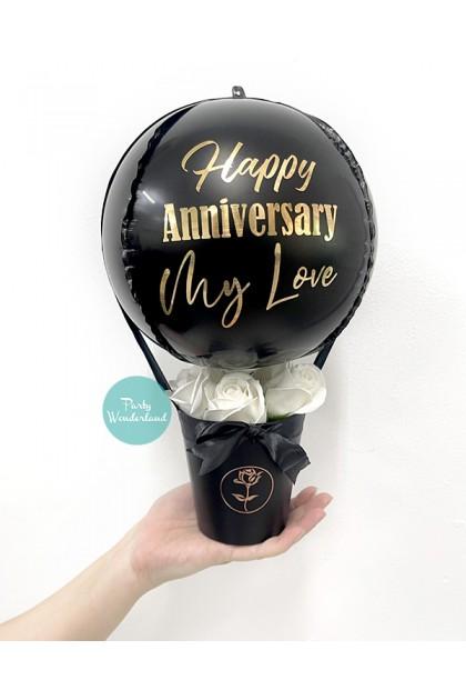 Mini Black Orbz Balloon Bucket