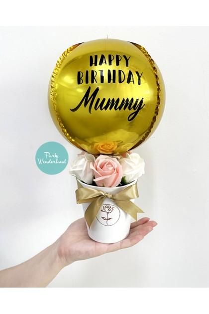 Mini Gold Orbz Balloon Bucket
