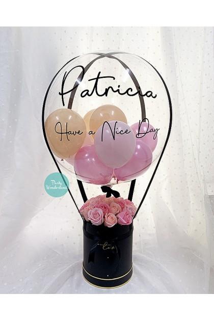Massive Black, Pink & Peach Balloon Bucket