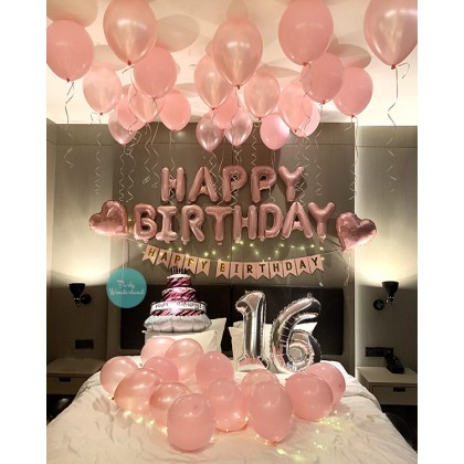 DIY Birthday Decoration Pink Theme