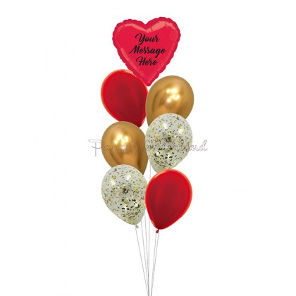 Personalized Message Red & Gold Foil Bundle