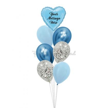 Personalized Message Blue Foil Bundle