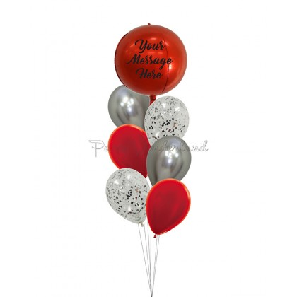 Personalized Message Red & Silver Orbz Bundle