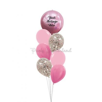 Personalized Message Pink Orbz Bundle