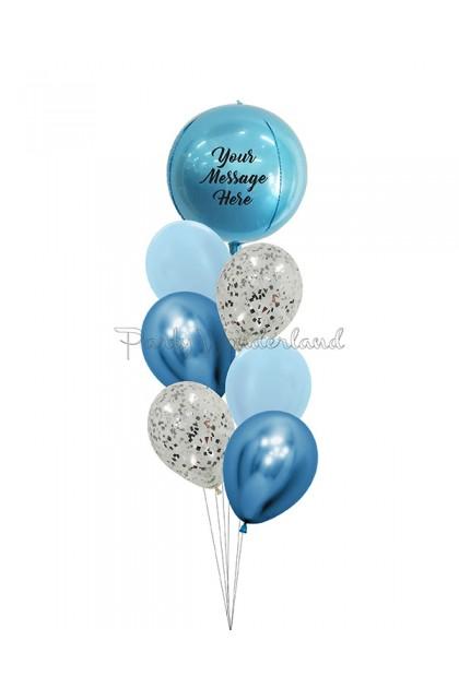 Personalized Message Blue Orbz Bundle